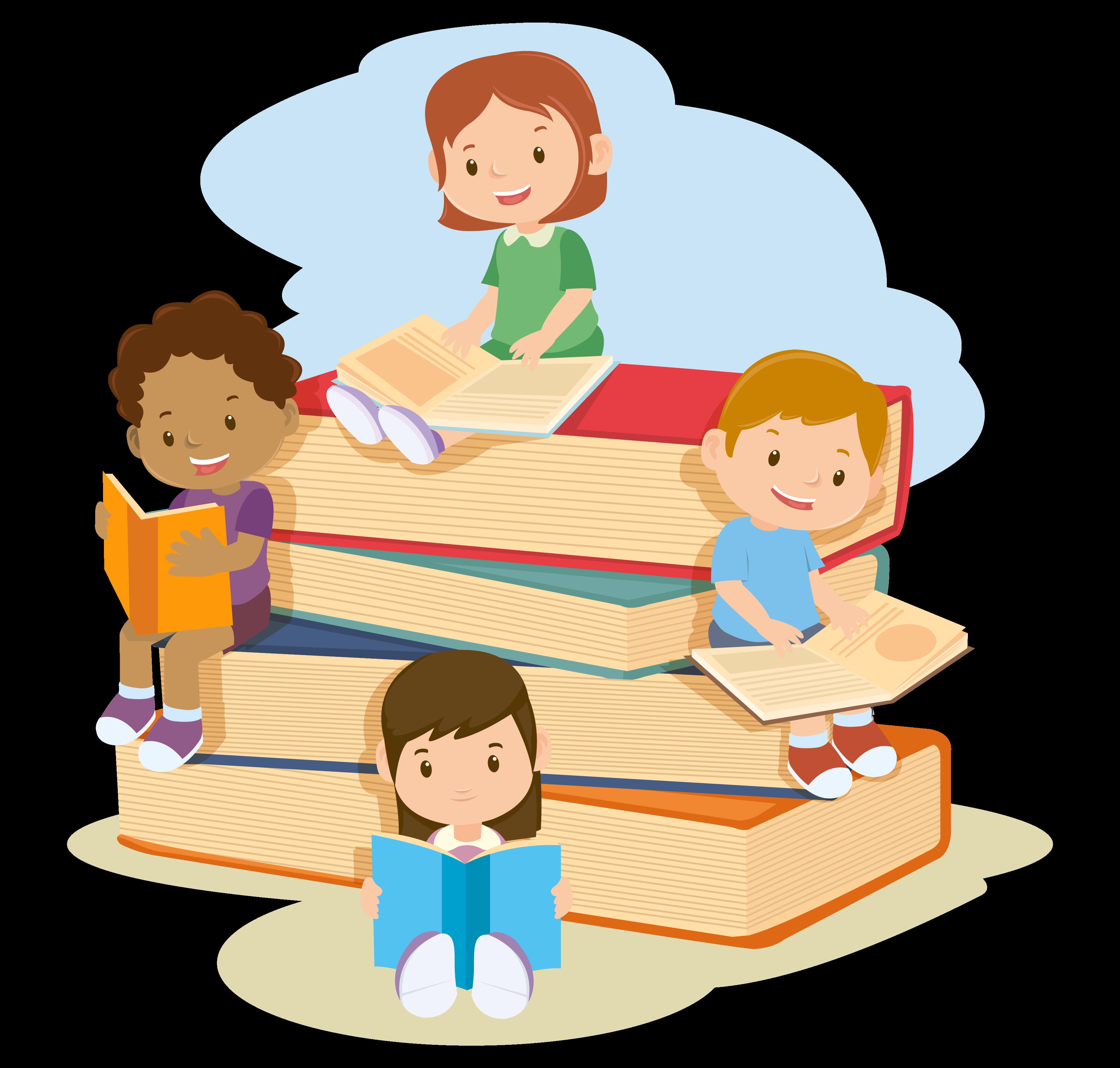 Enfants lisant le projet éducatif